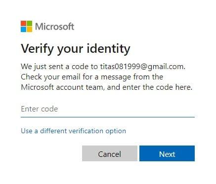 enter_code_for_resetting_microsoft_password