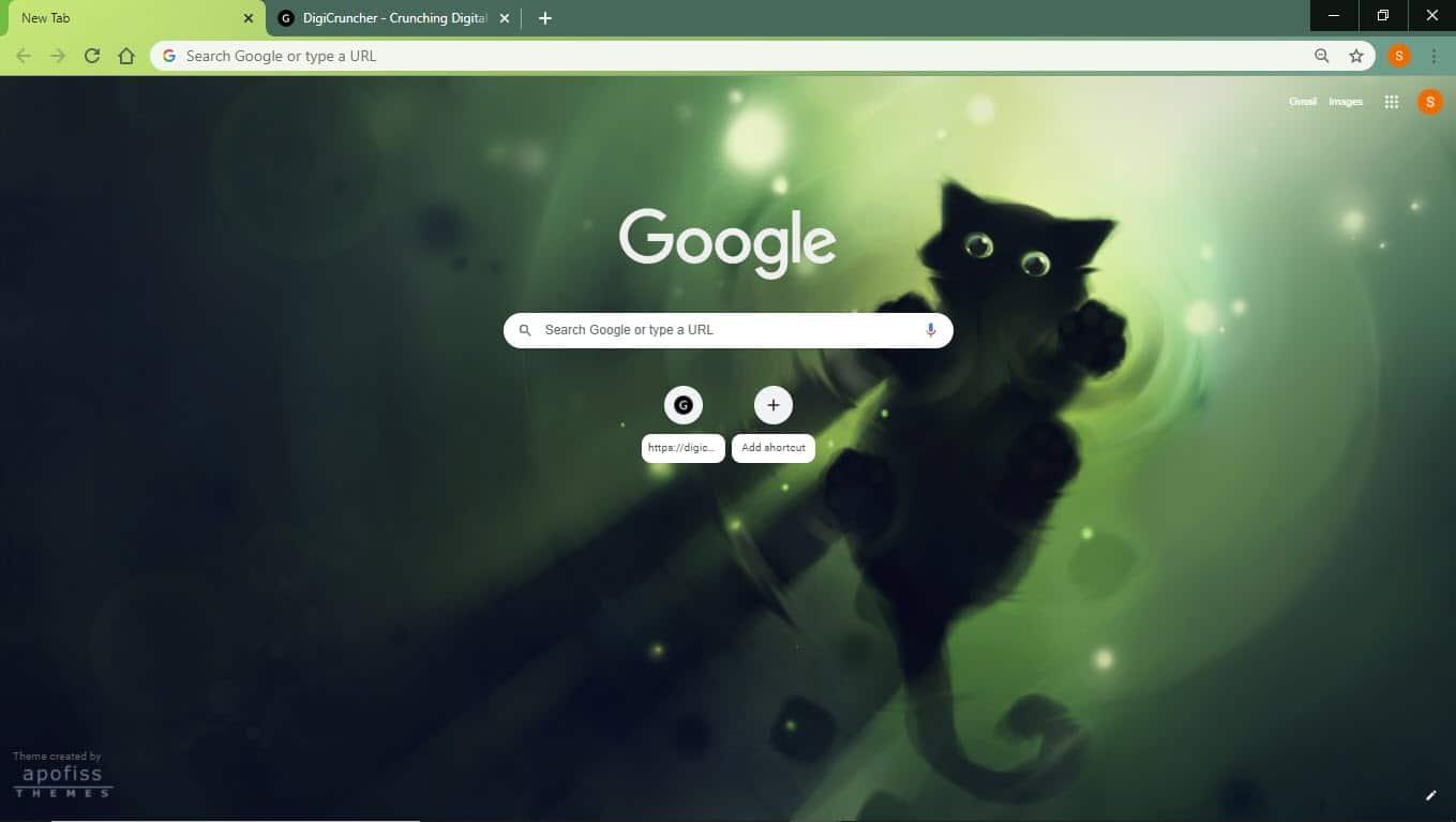 Cat_Google_chrome_theme_marchin_on