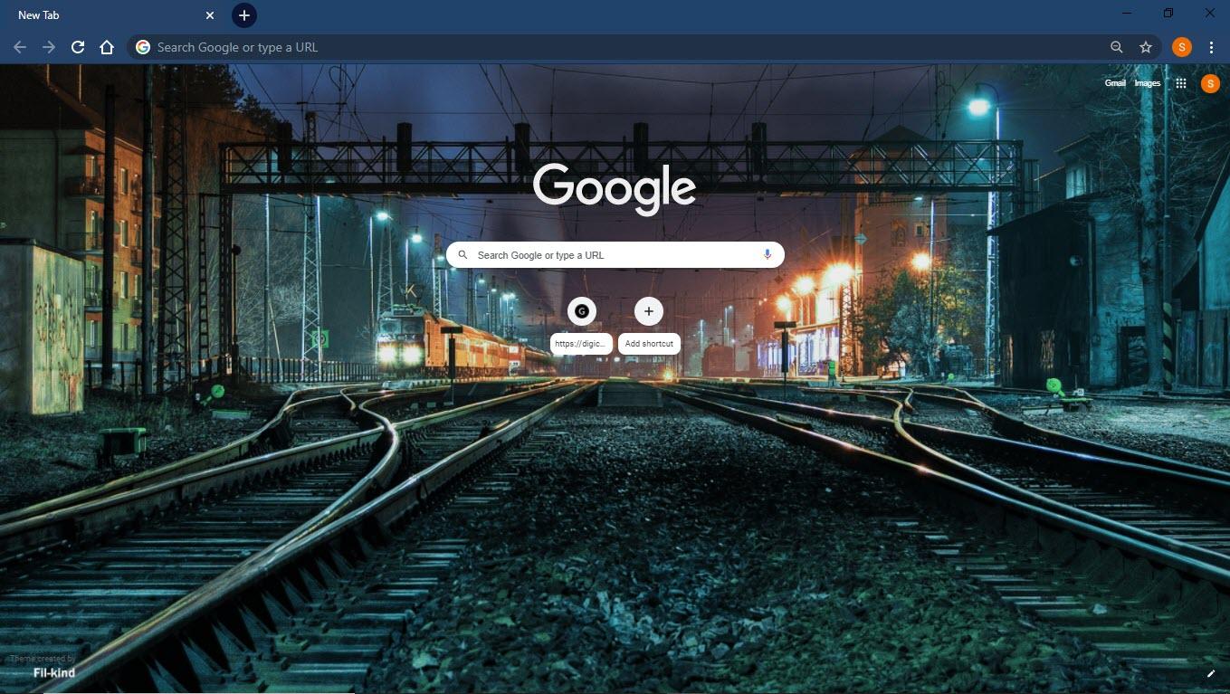 Midnight_train_google_chrome_theme