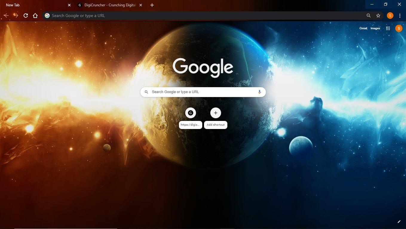 Planet_spaceix_google_chrome_theme