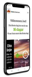 Preaboarding på mobilen för Bodens kommun