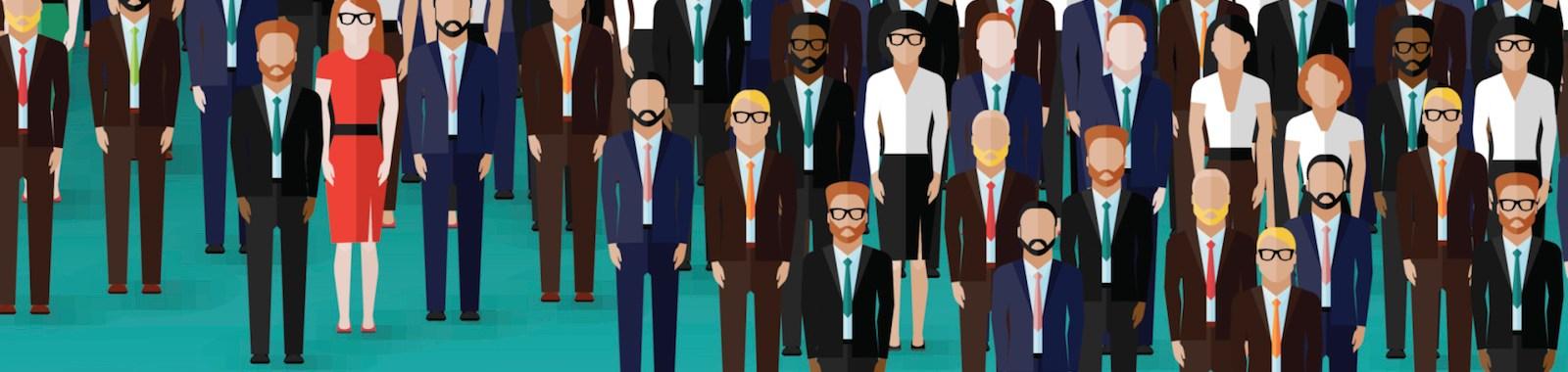 vector flat illustration of business or politics community