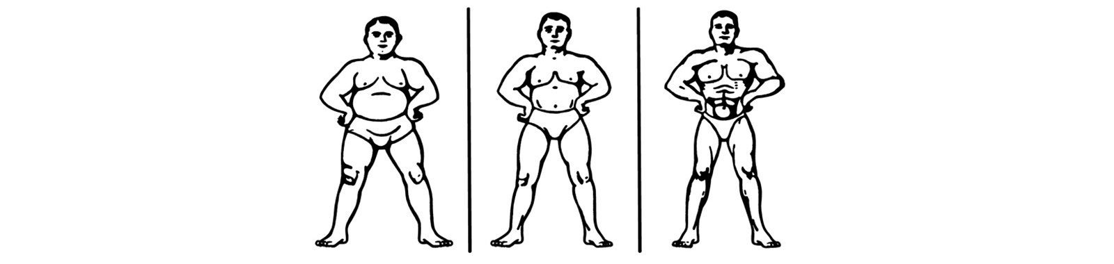 Three Stages of One Man's Muscle Progression