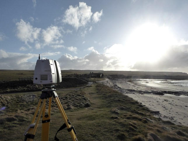 Leica C10 laser scanner, used to scan the top of the dunes on the east of Skara Brae.