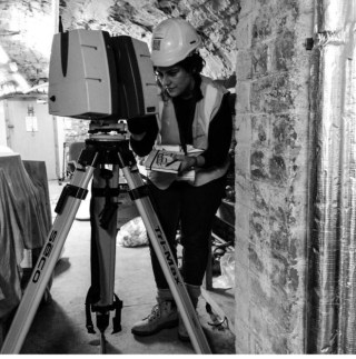 Scanning store-rooms at the basement level of the Palace with a Leica P40 scanner. Credits to @hephe1