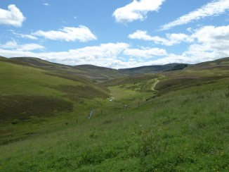 View outside the perimeter wall of Corgarff.