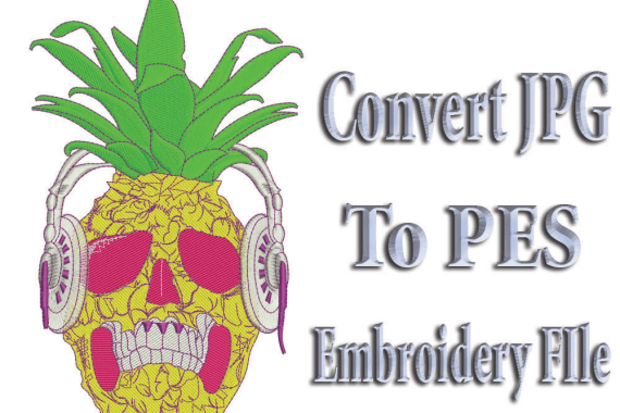 Convert JPG to PES Embroidery File