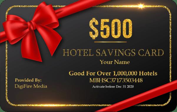 Hotel Saving Card 500