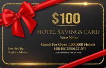 Hotel Sacing Card 100