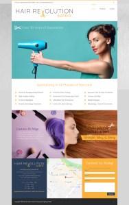 Oakville Hair Salon, Barber & Spa (Website design Mockup)