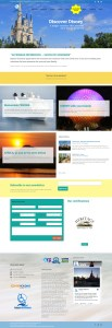 Global Travel Advisor & Vacation Company (website design mockup)