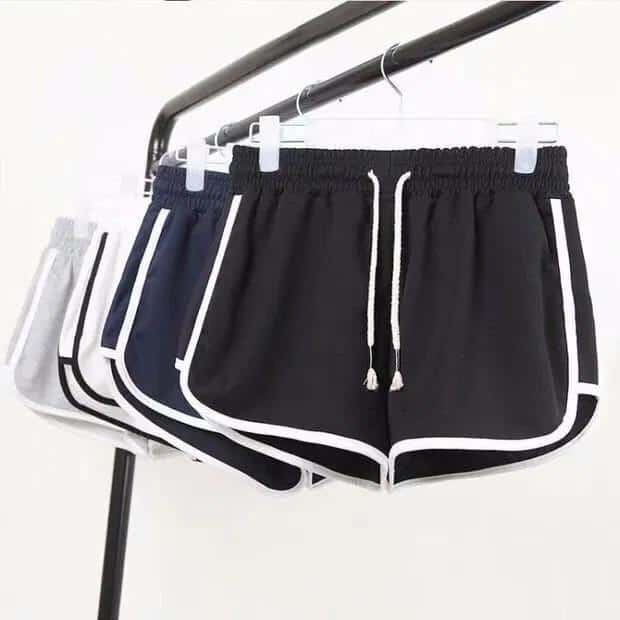 Women Summer Casual High Waist Solid Shorts Loose Fit