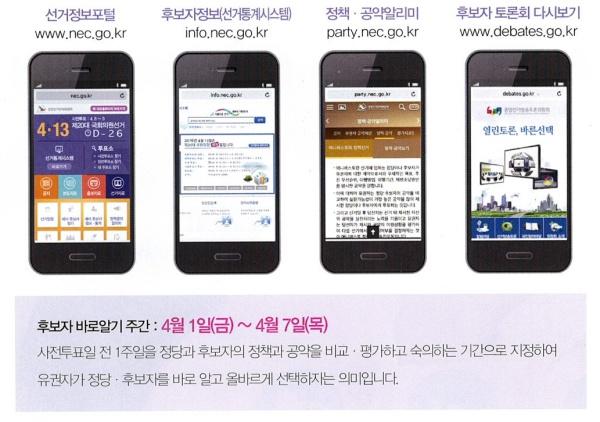 각종 선거 정보 사이트.