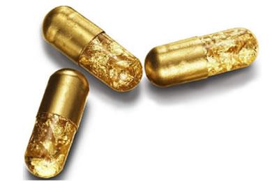 金のカプセル