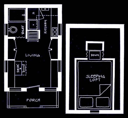 世界最小の家。わずか2.7坪のスペースで生活する男