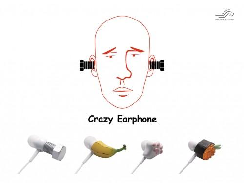 「おたく、耳から変なの出てますよ!」バナナ、イクラなどのクレイジーデザインのイヤホン登場