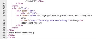 Vanilla forum HTML