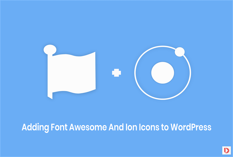 Font Awesome And Ion Icons