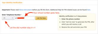 Amazon PIN Verification