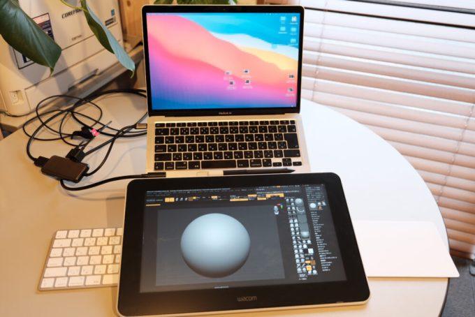 Zbrush Wacom One13 ワコム イラスト 3D USB C HUB M1 Mac Book Air