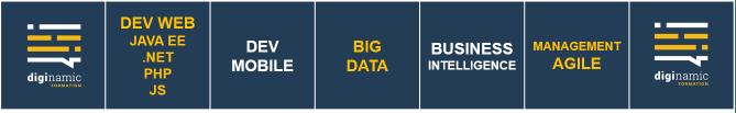 Développement web et mobile, big data, BI, management agile ...