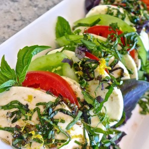 Marinated Tomato, Mozzarella and Basil Salad