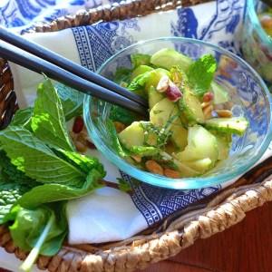 Cucumber Salad with Peanut Sauce