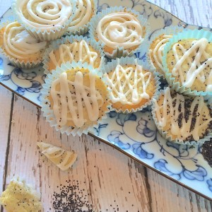 Lemon Poppy Seed Cookie Cups with Lemon Icing