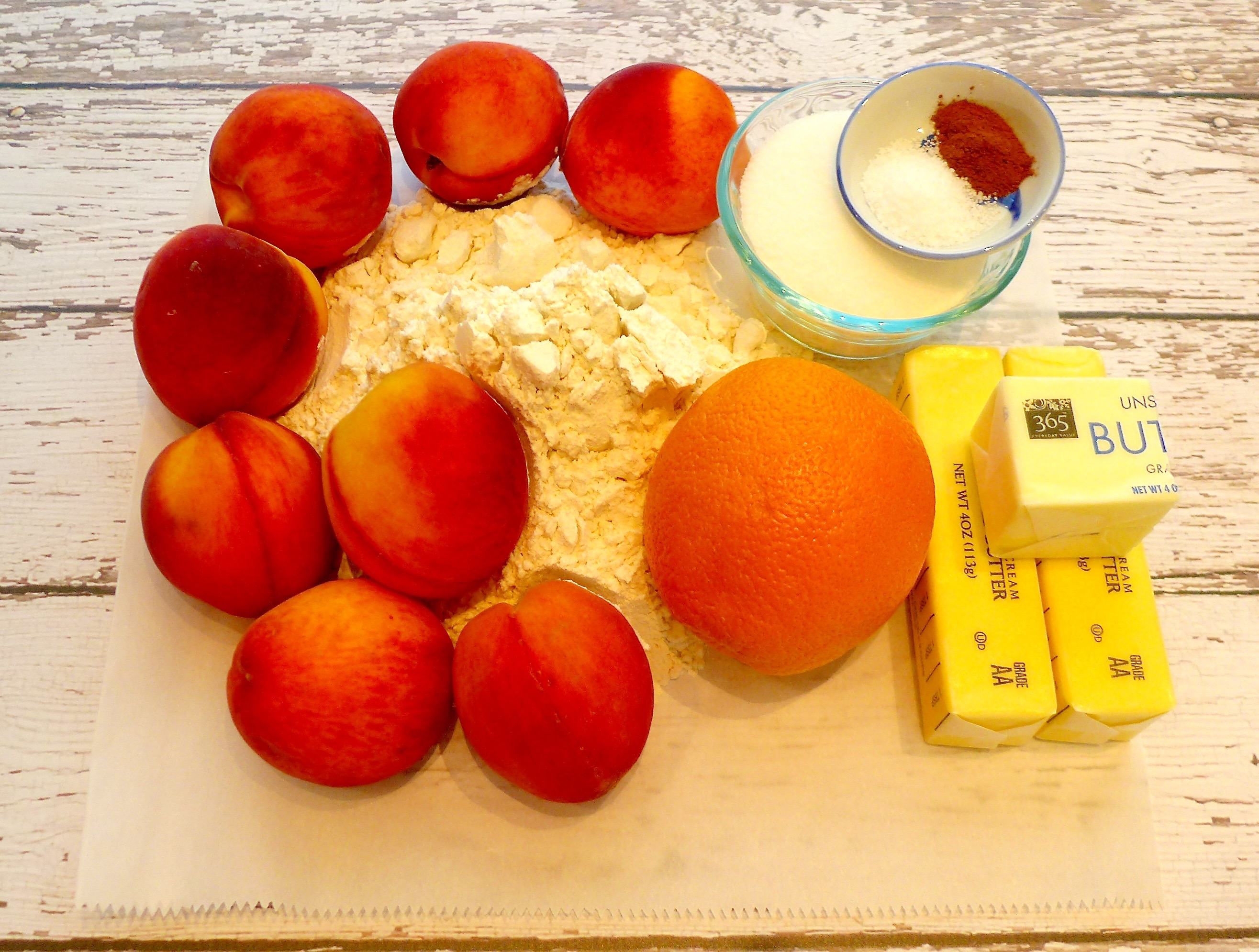 Peach Crostata Ingredients