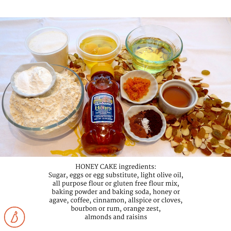 Ingredients for Honey Cake