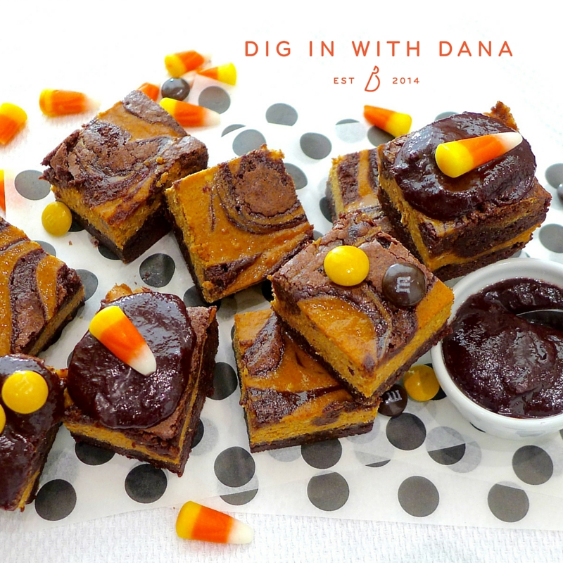 Pumpkin swirl brownie recipe and ideas at diginwithdana.com