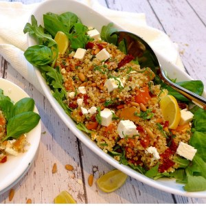 Lemon Basil Quinoa Pilaf