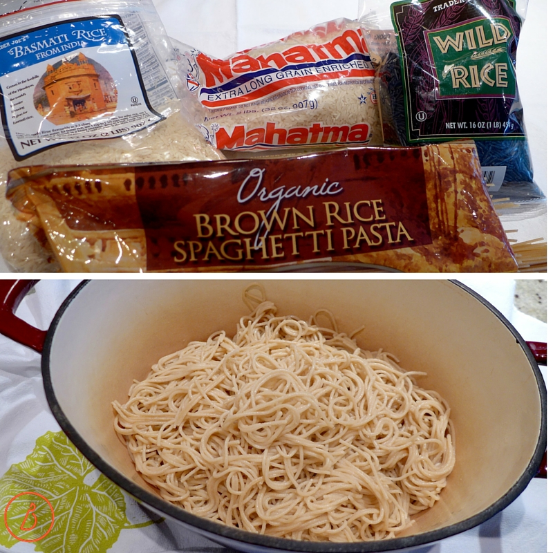 Gluten Free rice options for Beef Stew.
