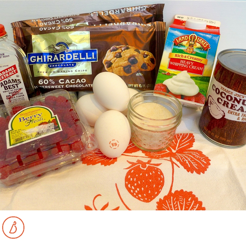 Ingredients for chocolate mousse