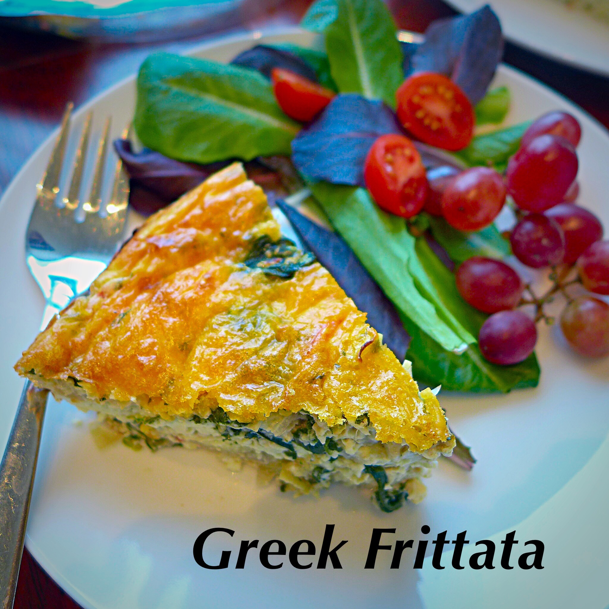 Greek Frittata, the #1 most popular side on diginwithdana!