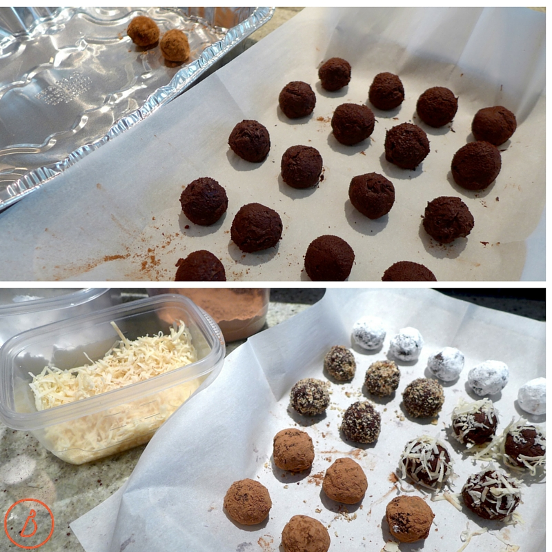 Form and dip truffles.