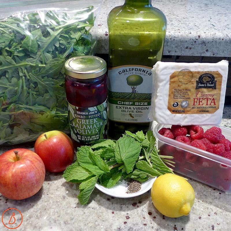 Ingredients for Fruity Greek Salad