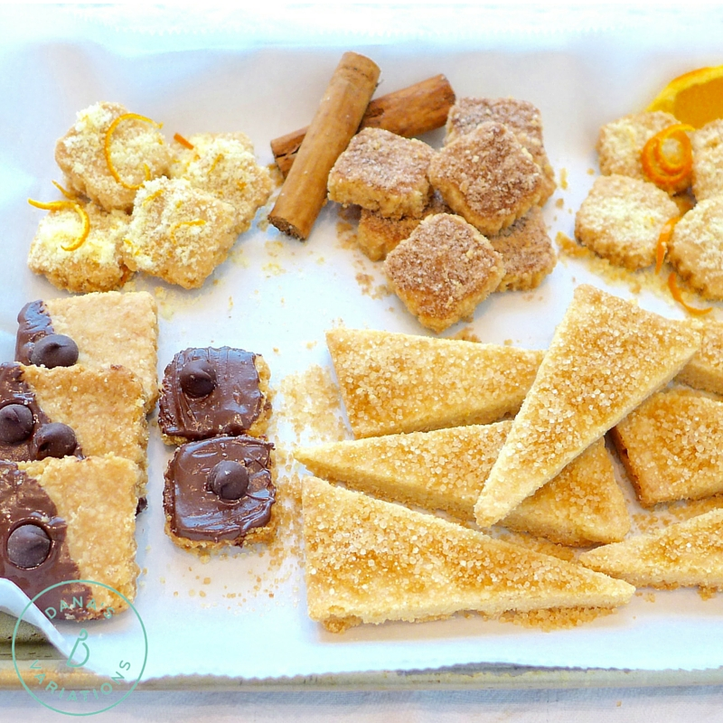 Simple shortbread can be any shape, any flavor. Recipe and ideas at diginwithdana.com