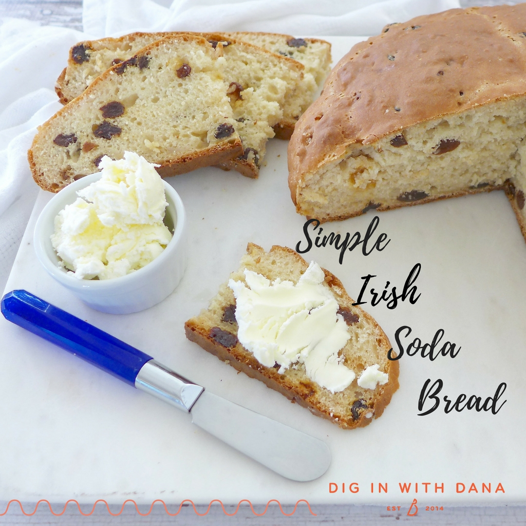 Simple Irish Soda Bread recipe and ideas at digiinwithdana.com