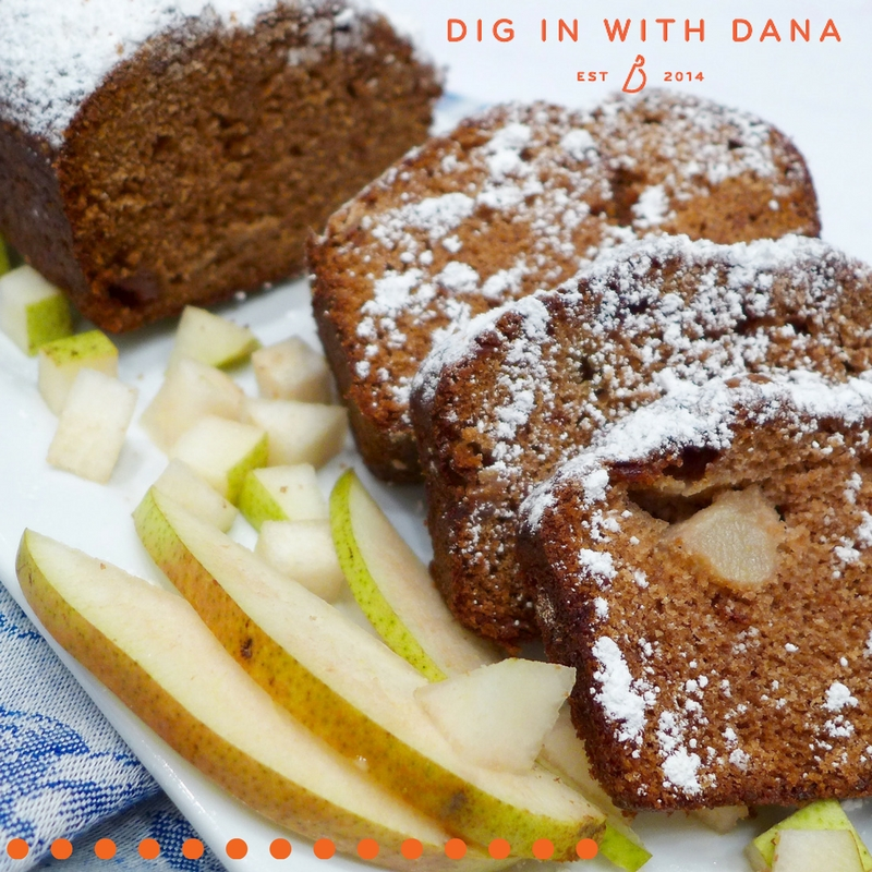 Dig in to fresh Applesauce Pear Cake. Recipe and Ideas at diginwithdana.com