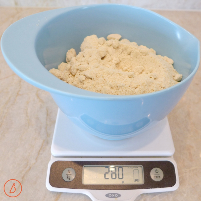 Measure out 2 1/2 cups or 280 gm of almond flour. Almond Flour and Honey Sandwich Bread recipe at digiwithdana.com