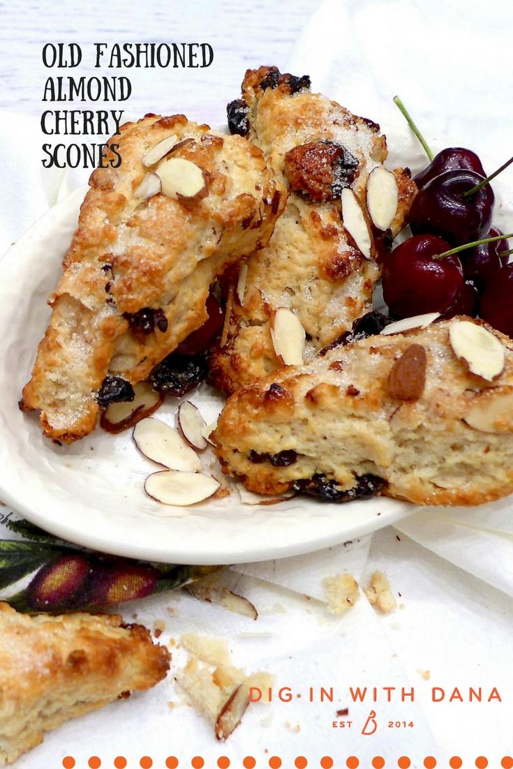 Old Fashioned Almond Cherry Scones Recipe at diginwithdana.com