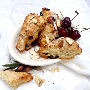Old Fashioned Almond Cherry Scones