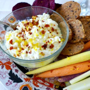 Easy, Creamy Lemon Feta Dip