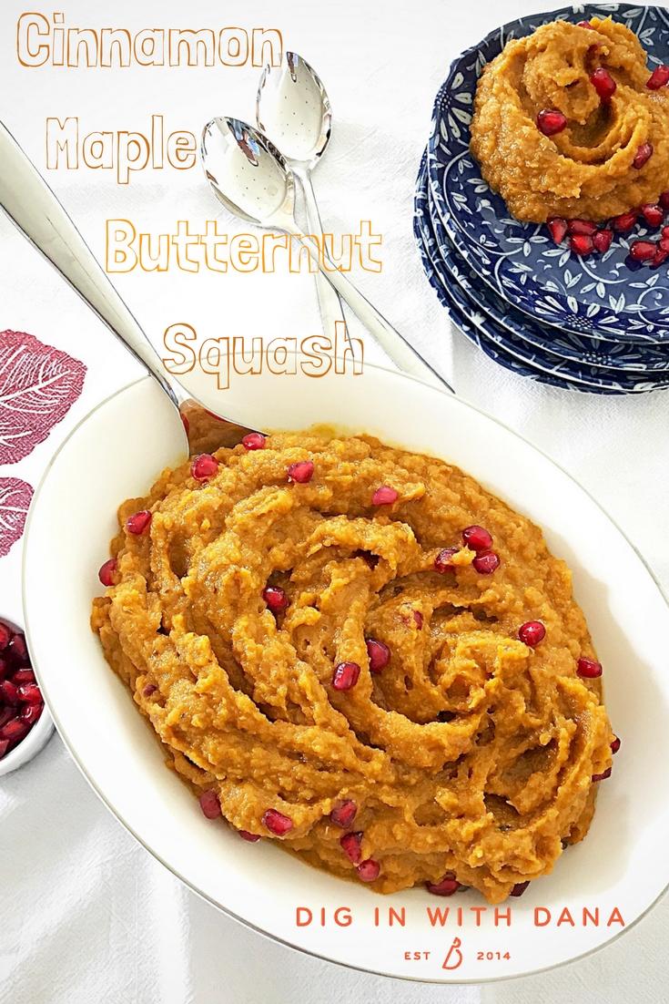 Cinnamon Maple Butternut Squash ideas and recipe at diginwithdana.com