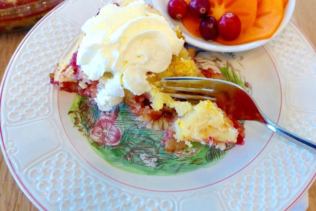 Easy Cranberry Persimmon Cake