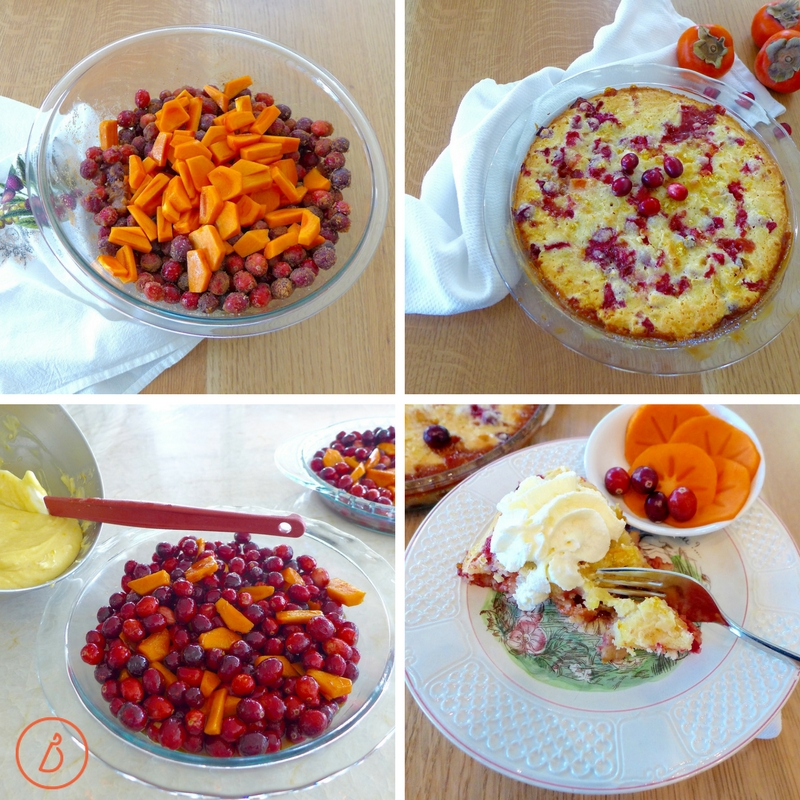You've gotta try this Easy cranberry persimmon cake recipe made and served in a pie pan at digiwnithdana.com