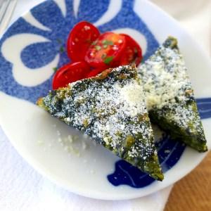 Low carb Spinach Parmesan Pie