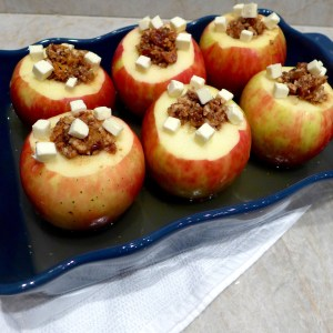 Date Nut Stuffed Baked Apples #diginwithdana #recipe