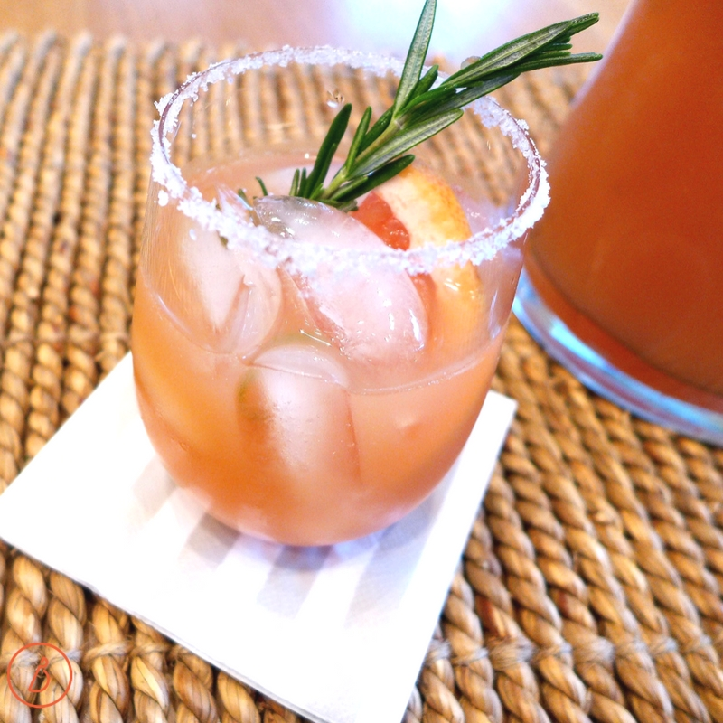 Simple Ruby Margaritas with rosemary simple syrup. Variations and mocktail ideas at diginwithdana.com